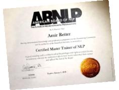 תעודה בעל דרגת NLP Master Trainer מטעם IN