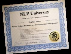 תעודה דרגת NLP Master Tainer מטעם NLP University (רוברט דילץ)