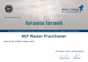 NLP Master Practitional תעודה